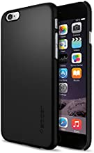 """iPhone 6 Case, Spigen® [Non Slip] iPhone 6 Case Slim **NEW** [Thin Fit] [Smooth Black] Premium SF Coated Non Slip Surface with Excellent Grip Matte Hard Case - ECO-Friendly Packaging - Slim Case for iPhone 6 (4.7"""") (2014) - Smooth Black (SGP10936)"""