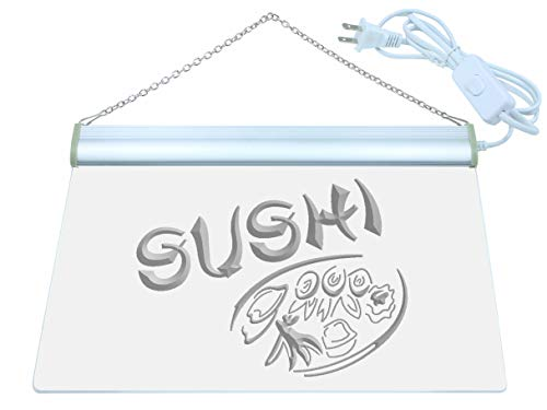 ADV PRO Japanese Cuisine Sushi Food LED Neon Sign Green 16'' x 12'' st4s43-s008-g by ADV PRO