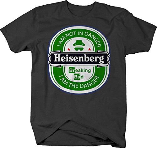 Beer Drinking Heisenberg Walter White I am Not in Danger Nerd Tshirt Men Large ()