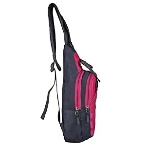 Yuhan Shoulder Sling Backpack Men Women Chest Gym Fanny Bag Sack Satchel Outdoor (Rose)