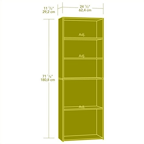 042666111409 - Sauder Beginnings 5-Shelf Bookcase, Highland Oak Finish carousel main 2