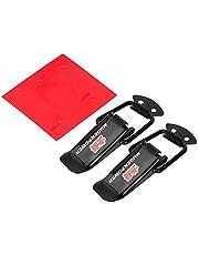 Gancho auto de choque auto de la seguridad Accesorios Lock Kit Clip for Racing de liberación rápida sujetadores del coche camión de la capilla del clip del cerrojo de 2 Piezas