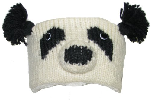 Delux Knitwits Patches The Panda Headband