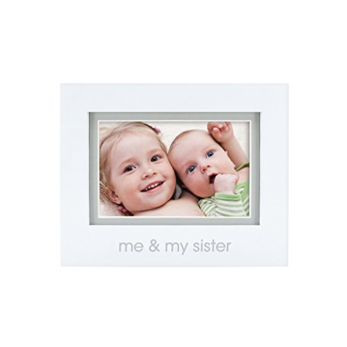 Little Sister Frame - Pearhead Me and My Sister Photo Frame, White