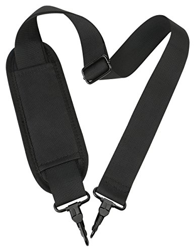 Taygeer Universal Replacement Laptop Shoulder Strap Luggage Duffel Bag Strap Adjustable Comfortable Blet with Metal Hooks & Pad for Briefcase Computer Messenger Bag Laptop Notebook Case, Black ()