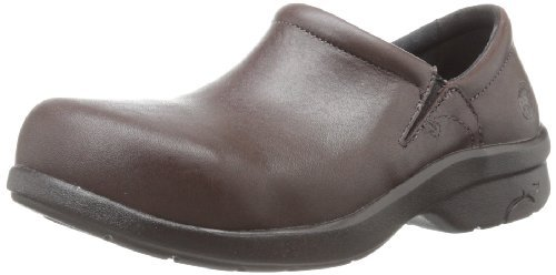 Timberland PRO - Womens Newbury Slip-On Alloy Safety Toe ESD Shoe, Size: 5 B(M) US, Color: Dark Brown