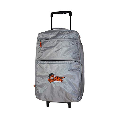 Tiger Tim Lightweight Grey Two-Wheeled Travel Carry On Hand Cabin Luggage Suitcase