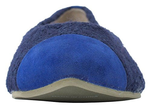 Flats Toe Blue Pointy Womens Shoes Boucle Ballet RHFw1p