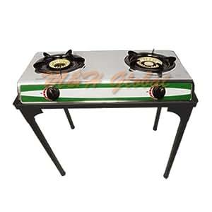 Amazon.com : Portable Double Burner Stove Propane Gas with