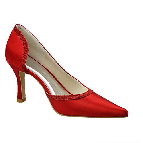 femme rouge Semelle Minitoo Rouge compensée 0XWwf