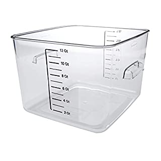 Rubbermaid Commercial Space Saving Food Storage Container, 12 Quart, Clear (FG631200CLR) (B000R8JOUC) | Amazon Products