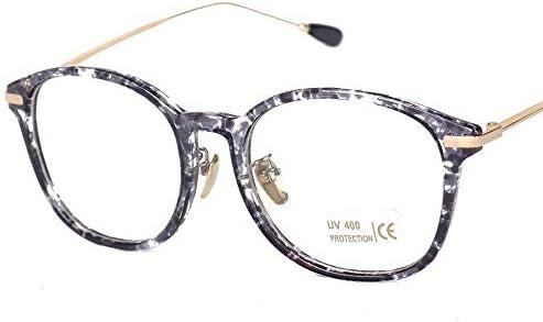 LIUYALE Big Metall Glasse Rahmen Nicht-verschreibungspflichtige Schutz der Augen Leicht stark und robust Glas-Rahmen-Raum-Objektiv-Brillen Brillenfassungen (Color : Gold/White)