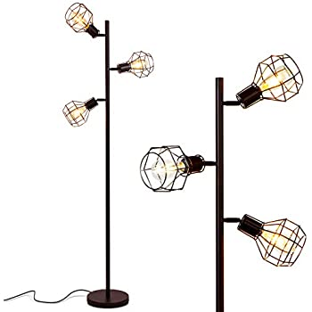 Brightech Robin Led Industrial Floor Lamp For Living