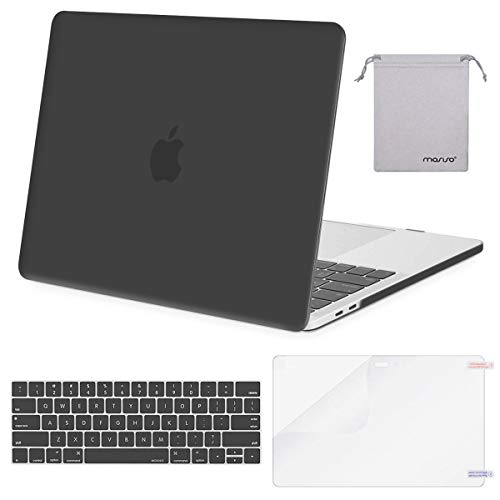 2017 Hard Plastic Case - MOSISO MacBook Pro 15 inch Case 2019 2018 2017 2016 Release A1990 A1707, Plastic Hard Shell &Keyboard Cover &Screen Protector &Storage Bag Compatible Newly MacBook Pro 15 Touch Bar, Space Gray