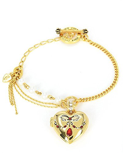 Juicy Couture Duchess Heart Slider Bangle Goldtone