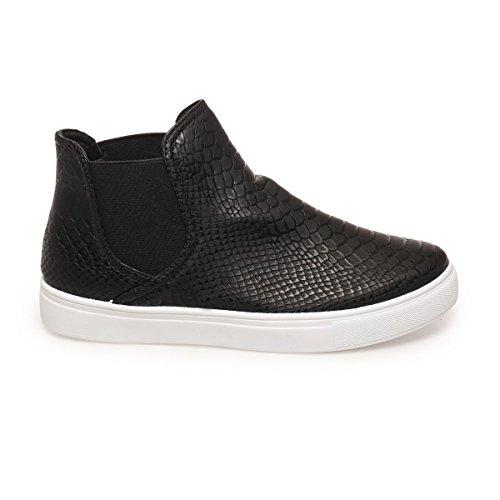 La Modeuse - Zapatillas de deporte para mujer, negro (negro), 39