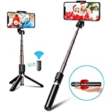 Vproof Bluetooth Selfie Stick Tripod, Mini Extendable 3 in 1 Aluminum Phone Tripod Selfie Stick with Wireless Remote for iPhone 11 Pro Max/11 Pro/11/XS/XS Max/XR/X/8/8 Plus/7/6, Galaxy S10/S9/S8, More