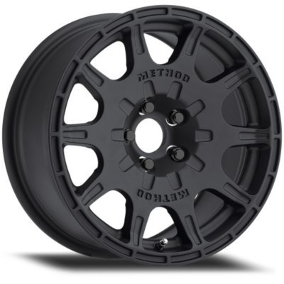 MR50257012515S - Method Race Wheels MR502 VT-SPEC MR50257012515S Matte Black Finish Aluminum Alloy Wheel - 15 in. Wheel Diameter X 7 in. Wheel Width, 5 x 4.5 in. Bolt