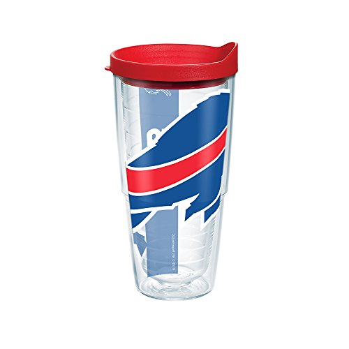 Tervis NFL Buffalo Bills Colossal Wrap Tumbler with Red Travel Lid, 24 oz, Clear - Buffalo Bills Tumbler