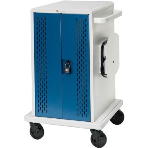 Bretford CORE36MS-CTTZ Store & Charge Cart, for 36 Tablets / Notebooks, Topaz/Concrete by Bretford