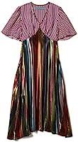 Jonathan Cohen Heloise Dress, Metallic Mexicana Stripe with Americana Strip