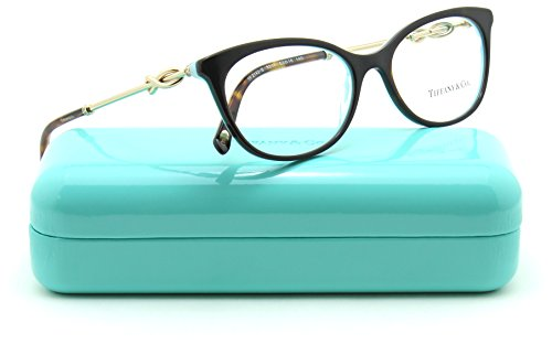 Tiffany & Co. TF 2142-B Women Eyeglasses RX - able Frame (HAVANA/STRIPED BLUE 8217, 53) by Tiffany & Co.