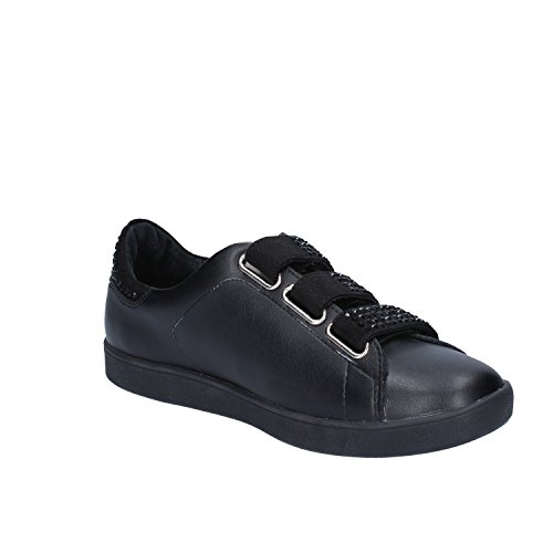 Jo Cuir Liu Noir Sneakers Femme wUxqpO8zO