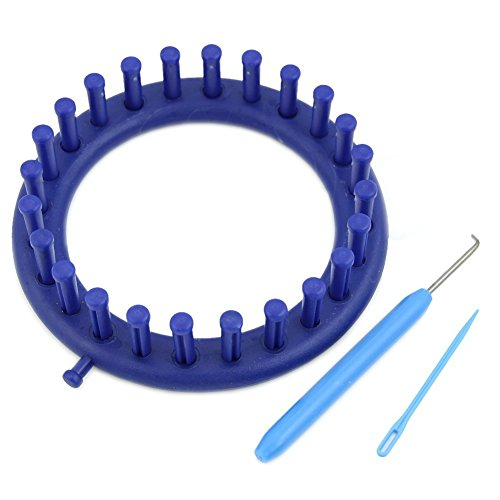 Techinal Blue Round Circle Knitter Knitting Knit Loom Kit (Small)