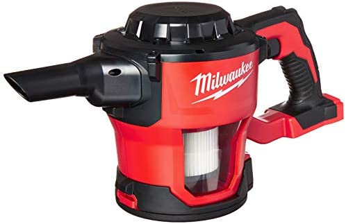 Milwaukee 0882-20 M18 Lithium Ion Cordless Compact 40 CFM Hand Held Vacuum w Hose Attachments and Accessories Batteries Not Included, Power Tool Only