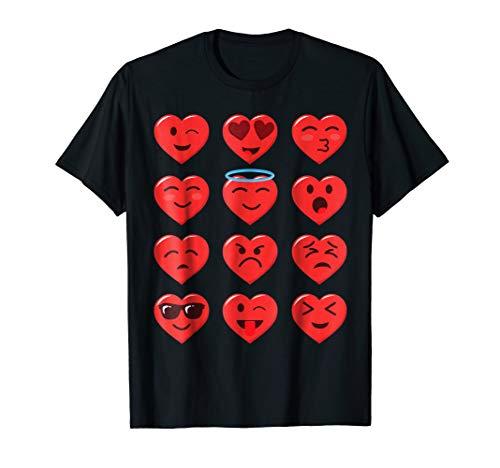 Funny Valentines Day Shirt Heart Emojicon Emoticon Boys Girl -