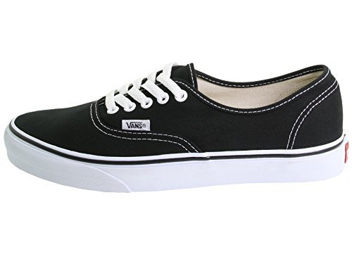 (Vans Mens Authentic Trainers (8 B(M) US Women / 6.5 D(M) US Men, Black/White))