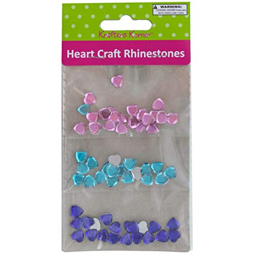 Faceted Heart Craft Rhinestones - 20/Pack (8 Pack)