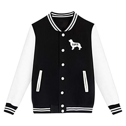 Varsity Uniform - WFIRE Baseball Jacket Golden Retriever Love Dog Paw Custom Fleece Varsity Uniform Jackets Coats for Youth