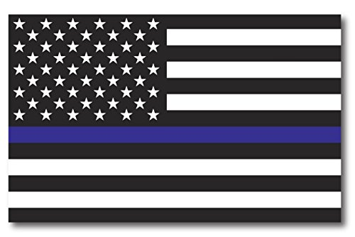 - Thin Blue Line American Flag Magnet Decal 5 x 8 Heavy Duty for Car Truck SUV - in Support of Police and Law Enforcement Officers