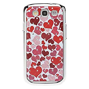 DUR Heart Pattern Hard Case with Rhinestone for Samsung Galaxy S3 I9300