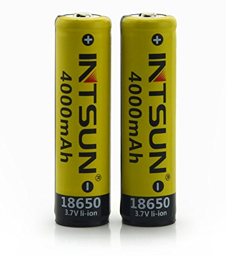 Intsun 174 2pcs 3 7v 18650 4000mah Rechargeable Li Ion