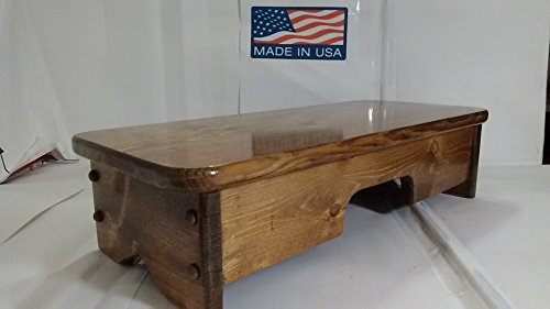 Cherry Wood Step Stool - Bed Side Step Stool Provencial Stained ( Made in U.S.A.)