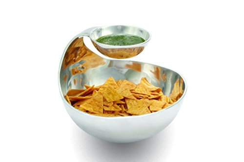 Evoke Homewares Large Stainless Steel Serving Party Chip and Dip Bowl