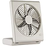 O2Cool 8-Inch Quiet Operation Portable Battery Fan with AC Adapter