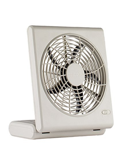 : O2Cool 8-Inch Quiet Operation Portable Battery Fan with AC Adapter