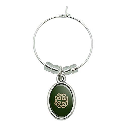 Celtic Knot Love Eternity Wine Glass Oval Charm Drink Marker