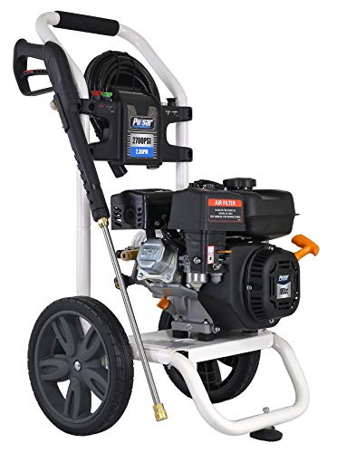 Pulsar 2,700 PSI 2.3 GPM Gas-Powered Pressure Washer with Quick Connect Nozzles & Detergent Siphoning Tube with Strainer, W27H18