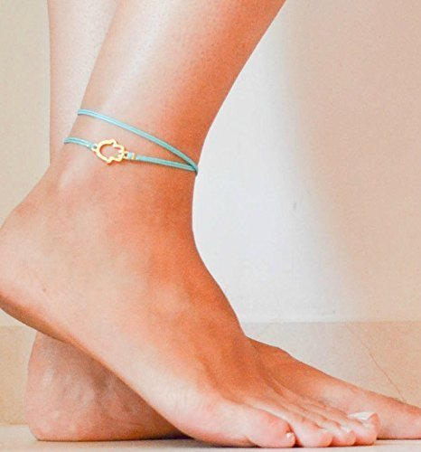 a96b37ae5 Image Unavailable. Image not available for. Color  Hamsa anklet