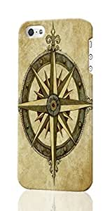 Compass Rose Custom Diy Unique Image Durable 3D Case Iphone 4 4S Hard Case Cover