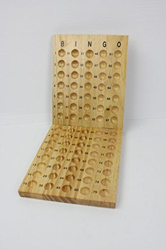 (Table Top Toys Wooden Bingo Masterboard-Foldable)