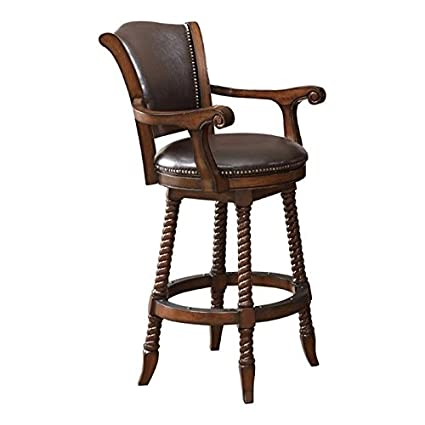 Astounding Amazon Com Bowery Hill 29 Traditional Bar Stool In Cherry Squirreltailoven Fun Painted Chair Ideas Images Squirreltailovenorg