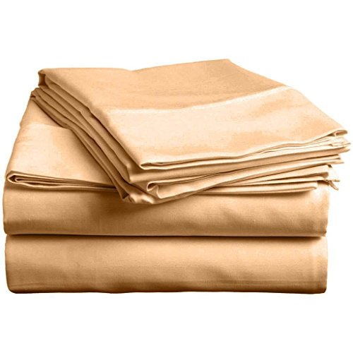 4 pcs sheet set Ultra Soft- Brushed Microfiber With Top Header - Wrinkle & Fade Resistant, Hypoallergenic Sheet & Pillow Case Set RV King Size Taupe Solid