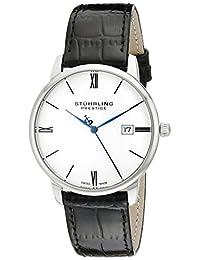 "Stuhrling Original Prestige Men's 307L.33152 ""Kingston"" Stainless Steel Watch with Black Leather Strap"
