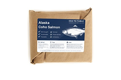 Sea to Table Wild-Caught Alaska Coho Salmon Fillets, 12 - Fedex On Time Delivered Not