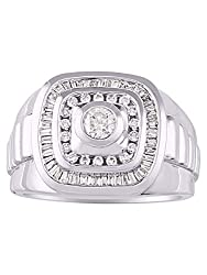 14K White Gold Role X Style Comfort Fit 1.25 Carats Diamond Ring